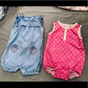 Set of 2 Summer Rompers
